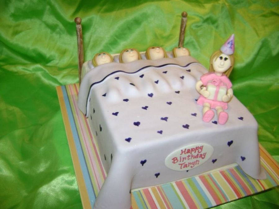 Sleep Over Birthday Cake