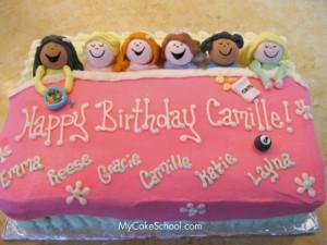 Sleep Over Birthday Party Cake