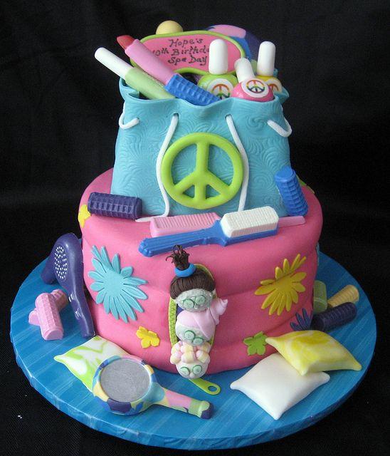 Spa Sleepover Cake