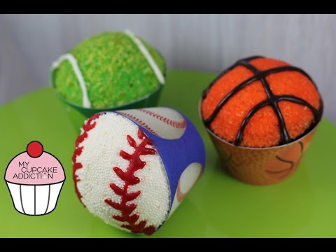 Sports Ball Cupcakes