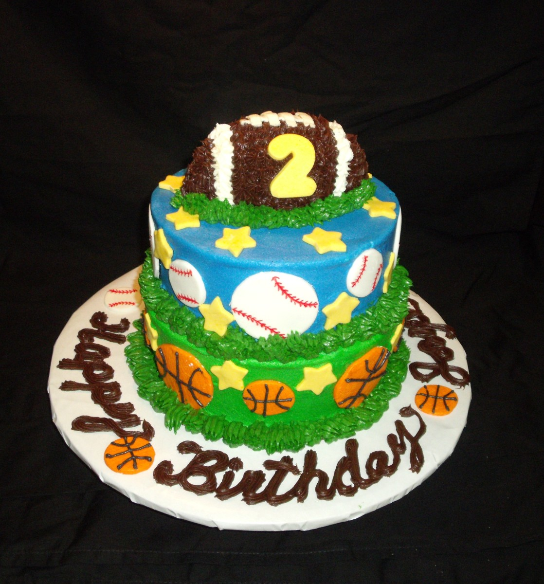 8 Photos of Sport Theme Baby Birthday Cakes