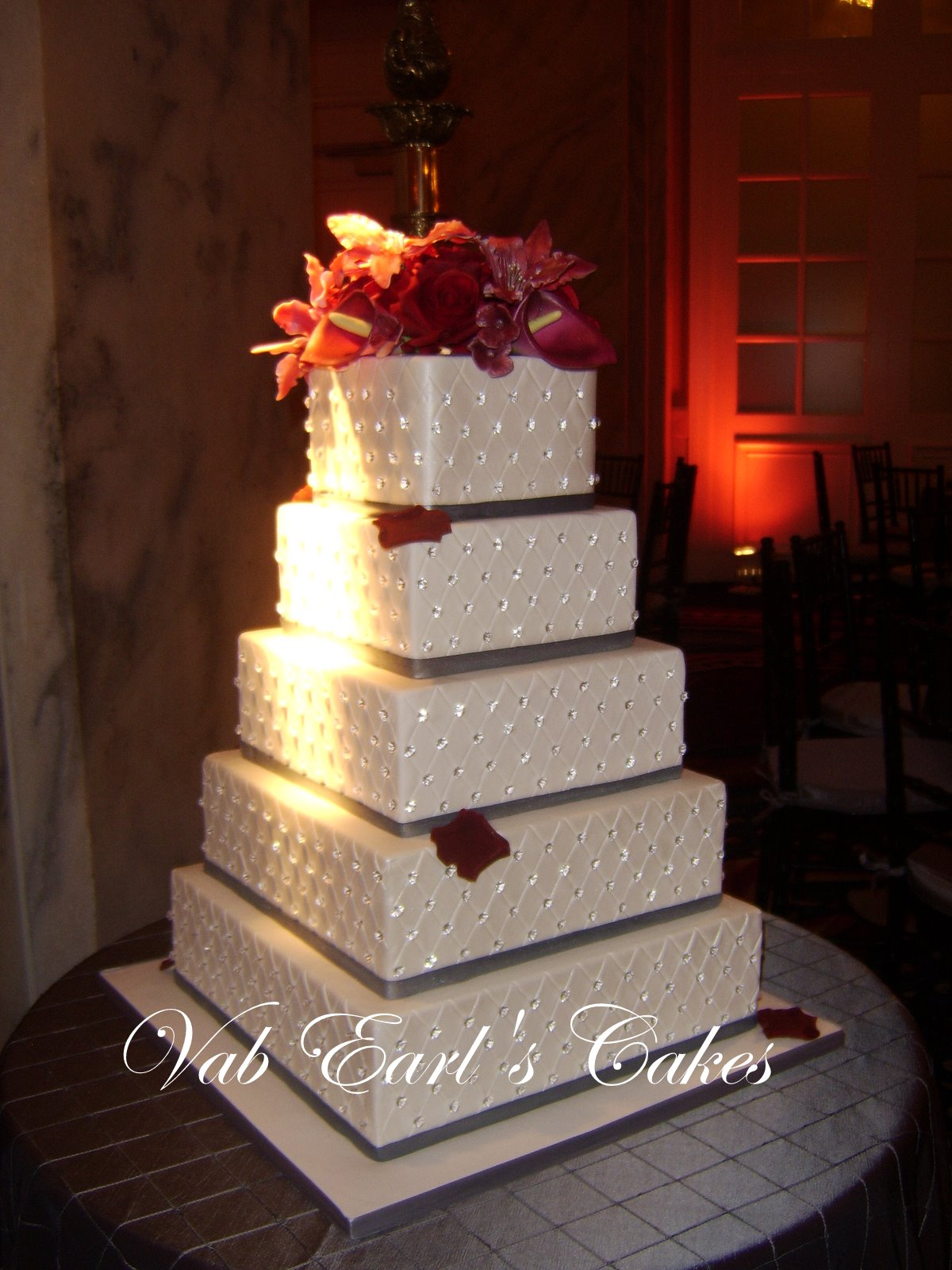 13 Photos of Square Wedding Cakes Crystals