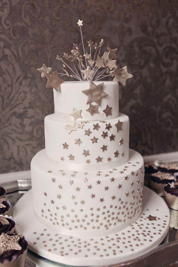 Stars and Moon Wedding Cake
