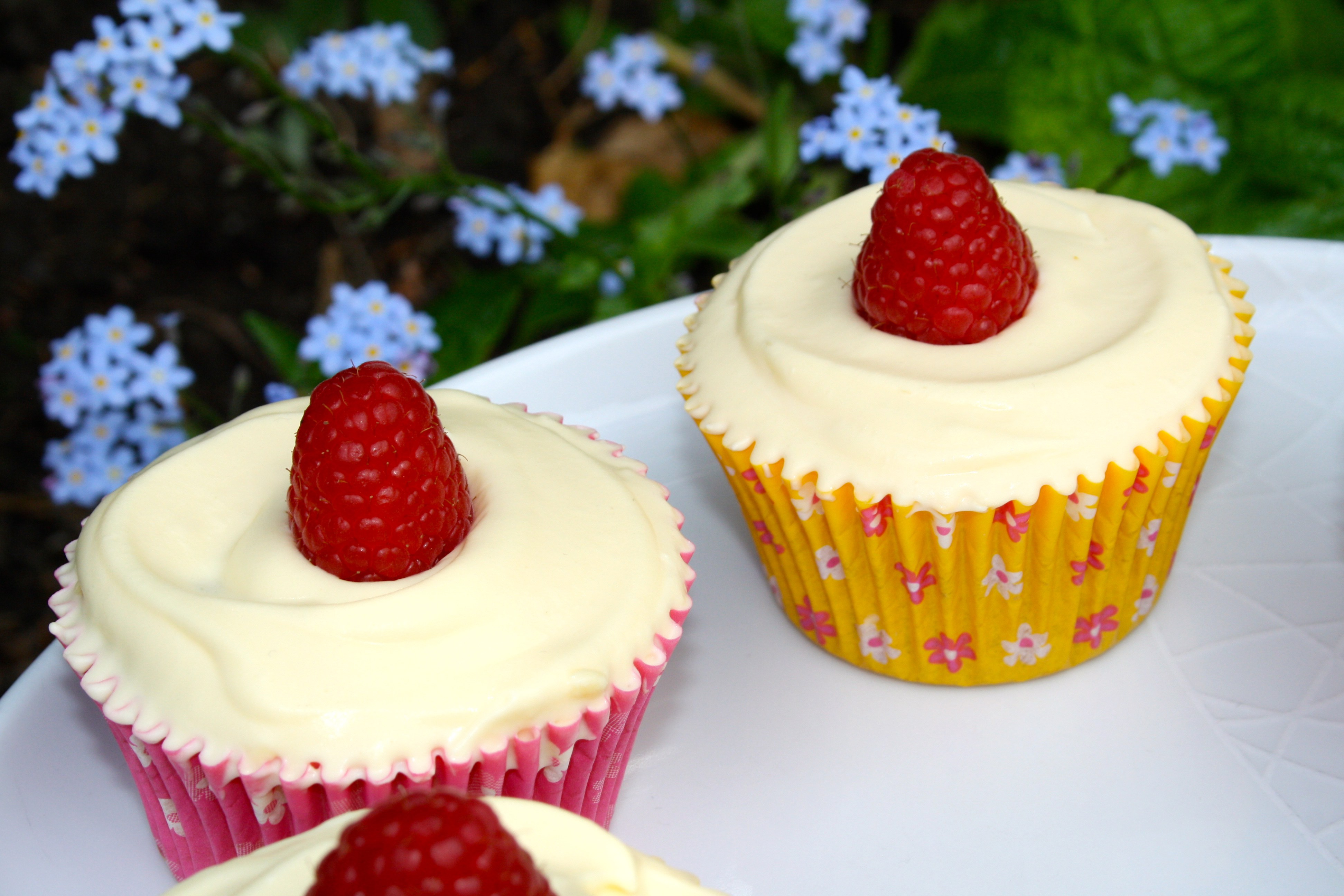 Stuffed Raspberry Cupcakes
