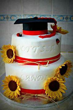 Sunflower Graduation Cake
