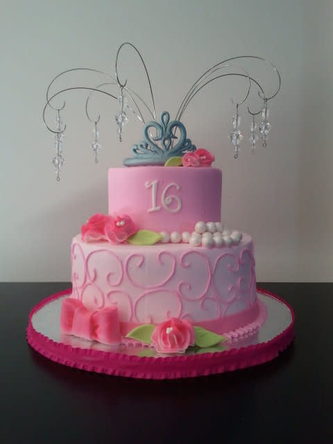 Sweet 16 Cake Buttercream Icing