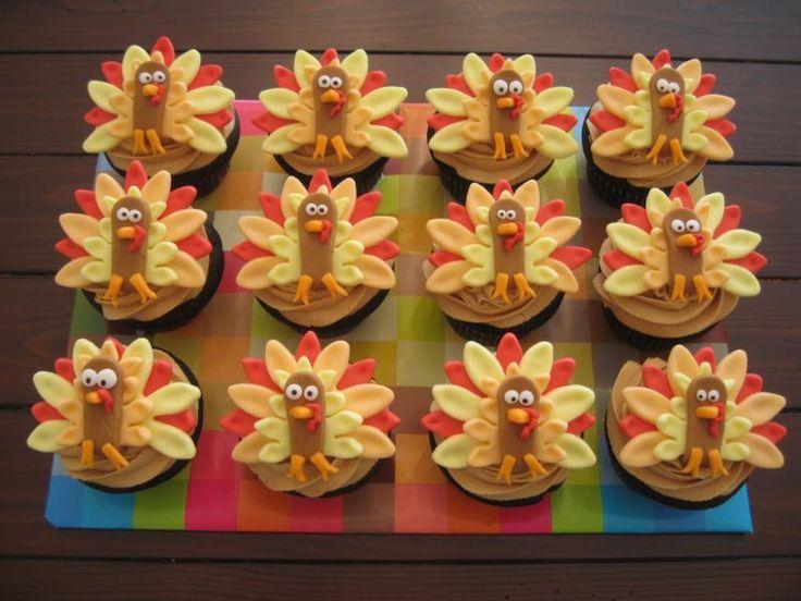 Sweet Turkey Cupcakes