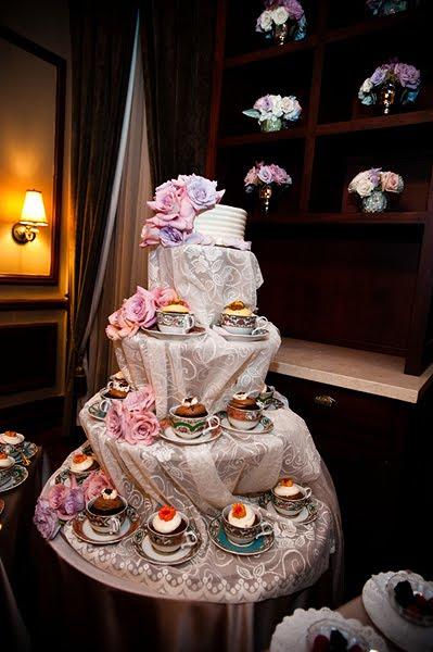 Tea Party Cupcake Display