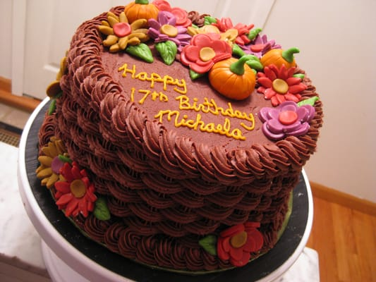 Thanksgiving Birthday Cake