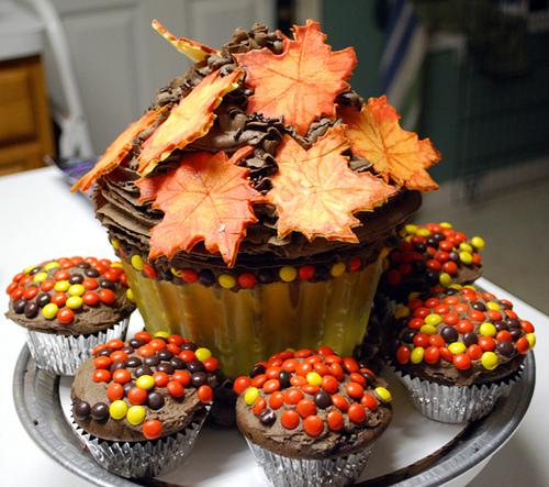 Thanksgiving Cupcake Cake Ideas