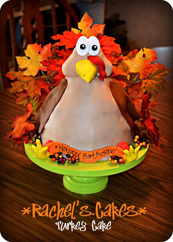Thanksgiving Turkey Birthday Cake