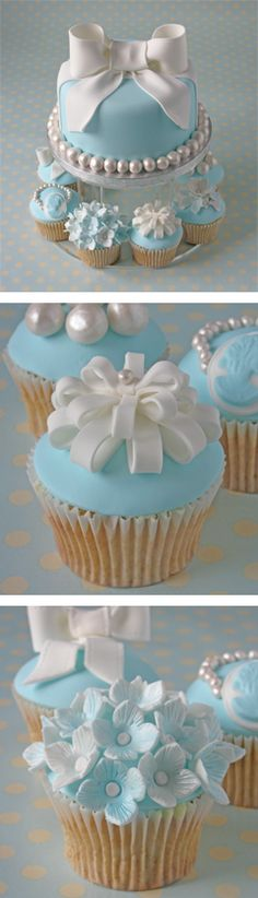 Tiffany Blue Baby Shower Cake