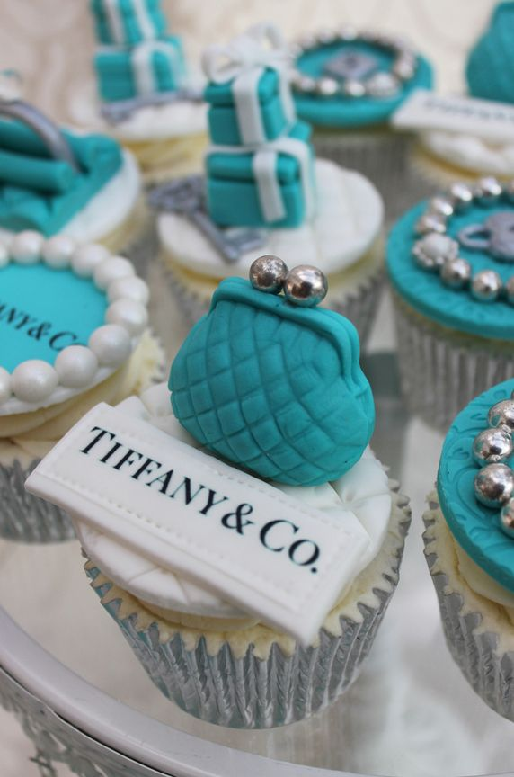 Tiffany Blue Birthday Cake and Cupcakes