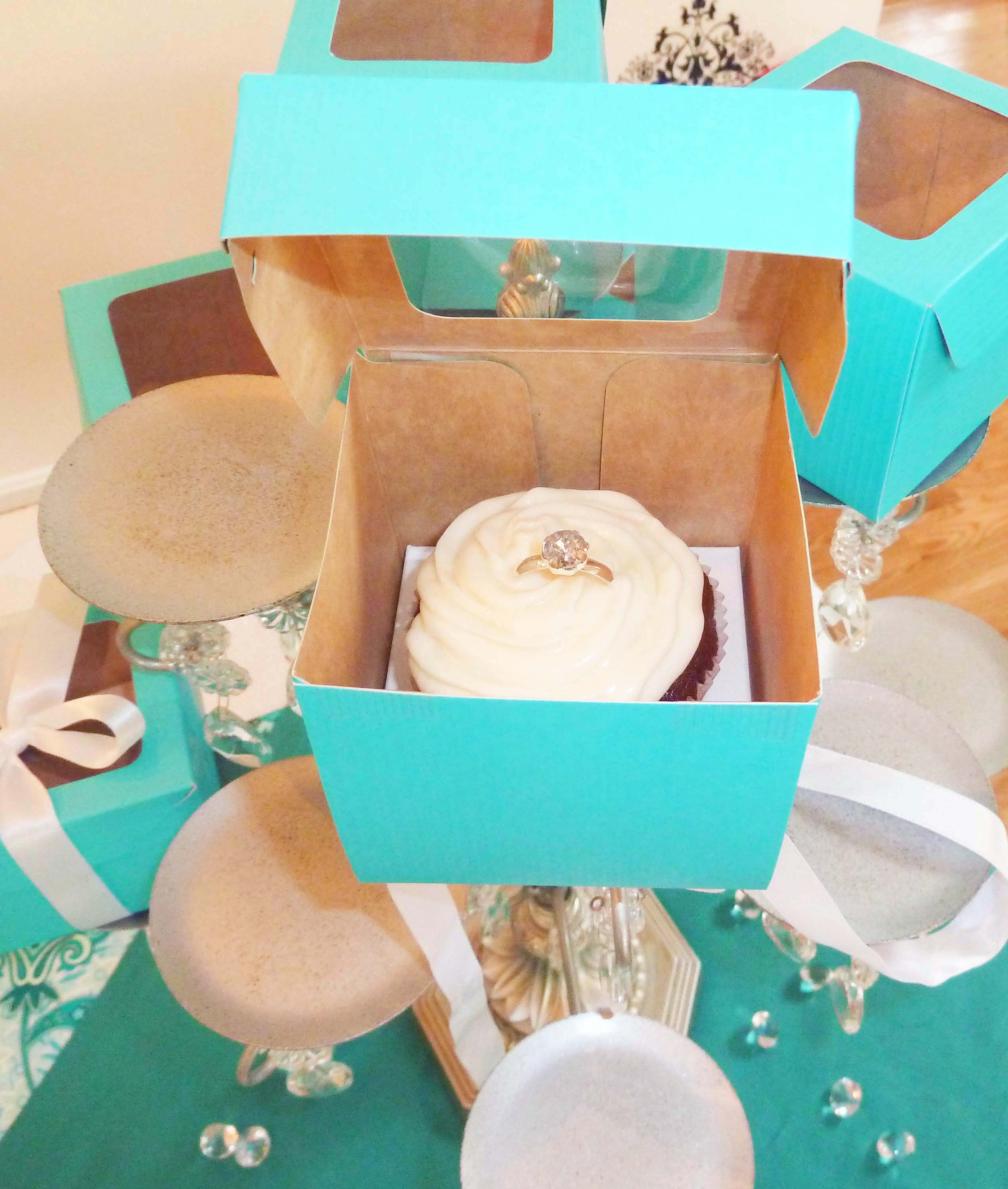 11 Photos of Tiffany Blue Engagement Ring Cupcakes