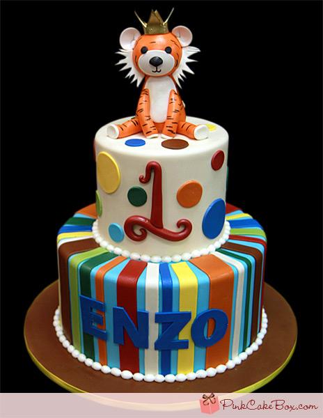 Tiger Birthday Cake