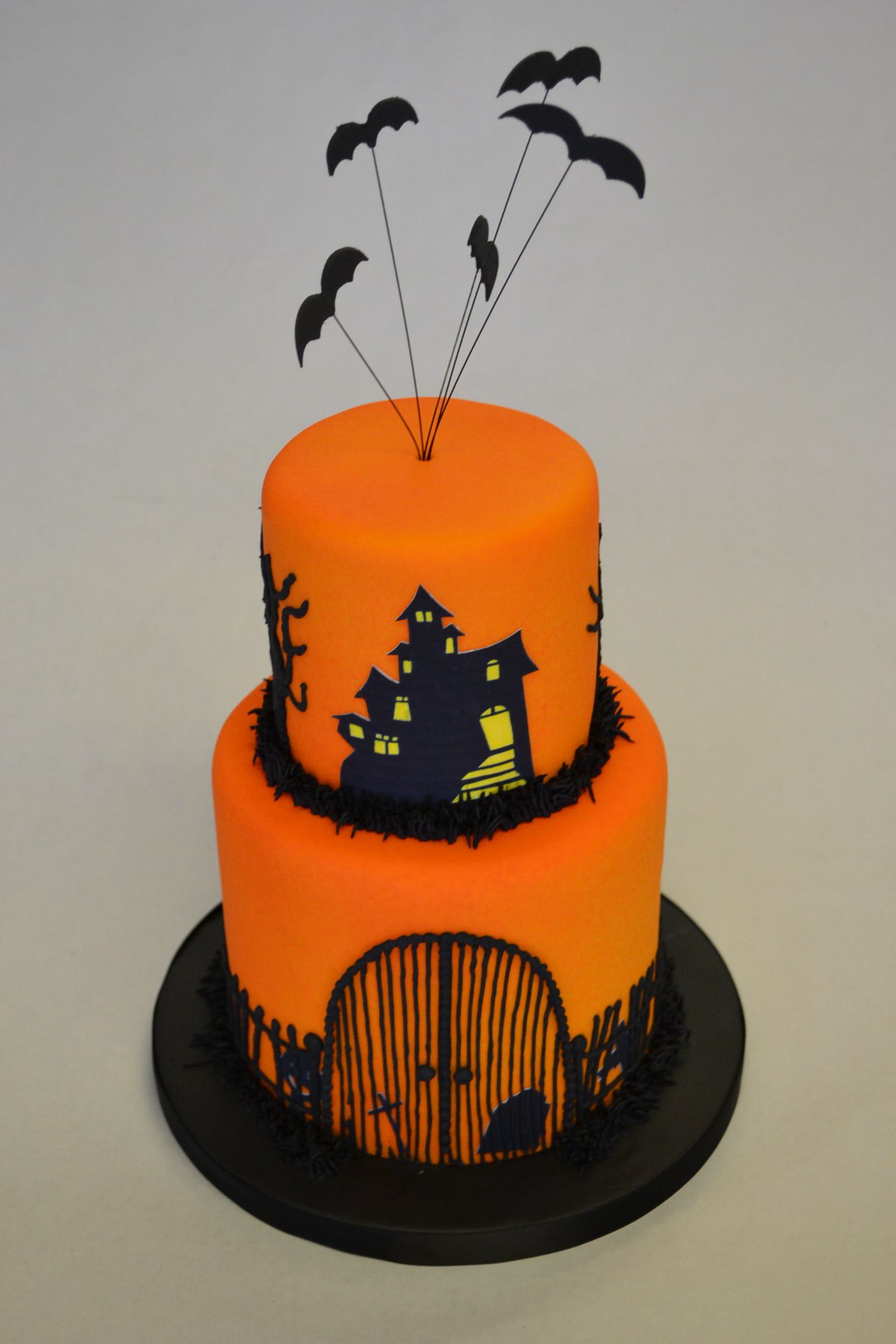 Two Tier Halloween Cake