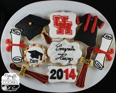University of Houston Cougar Graduation Cake