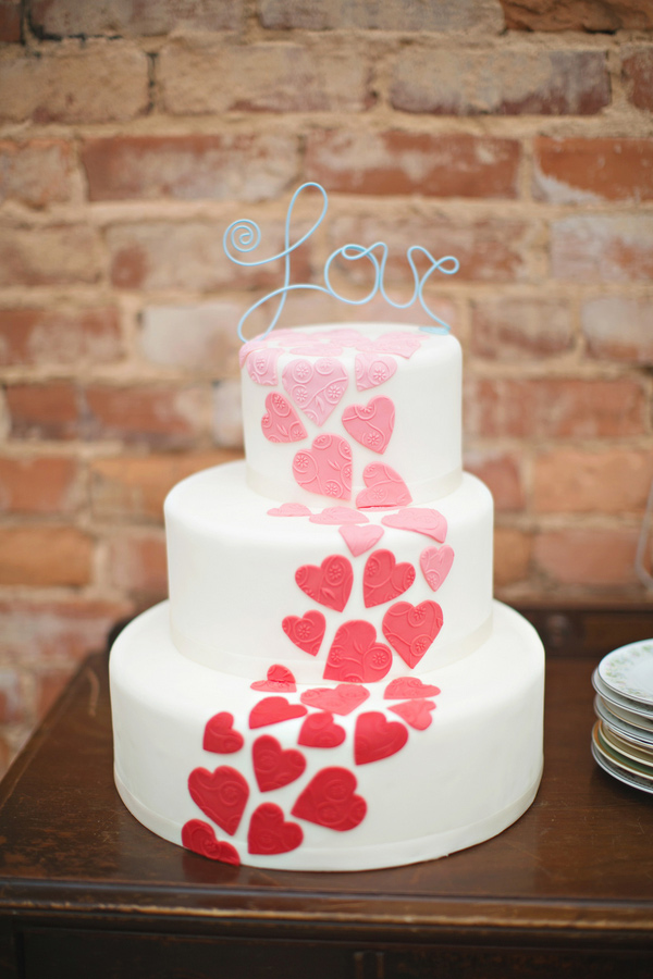 Valentine Heart Wedding Cake