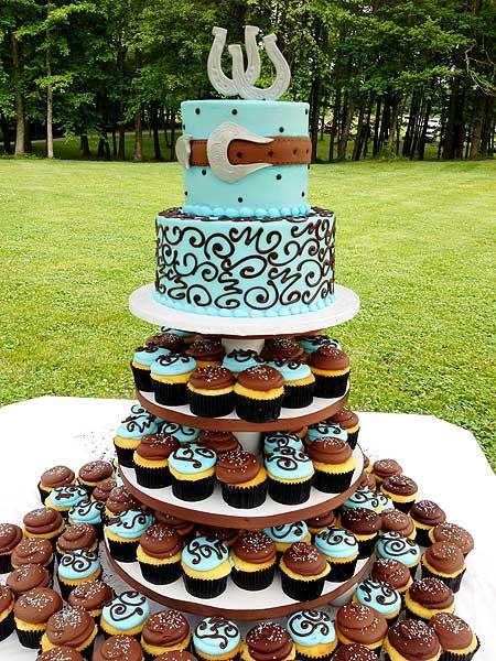 Western Wedding Cake an Cupcake Ideas
