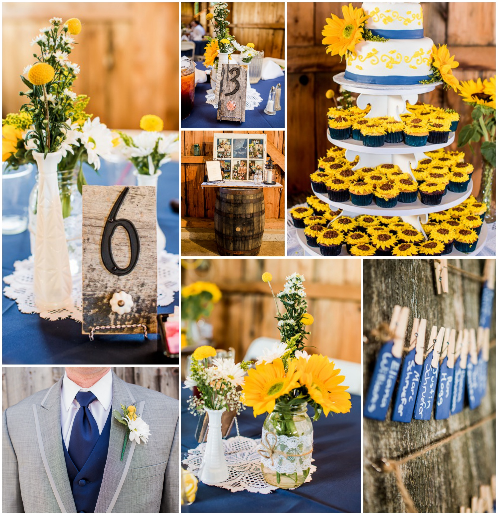 Yellow Country Themed Wedding