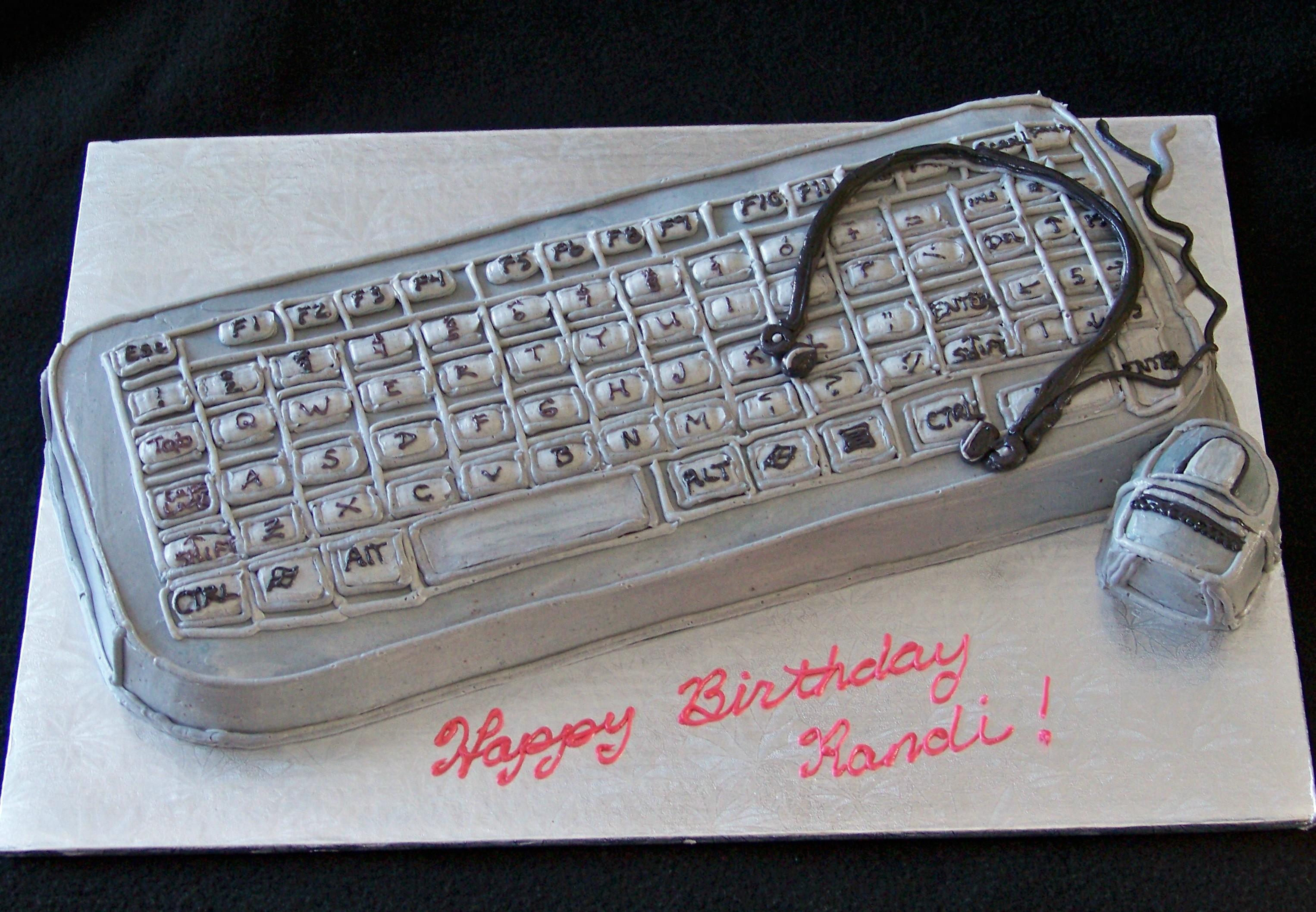 3D Computer Keyboard Cake