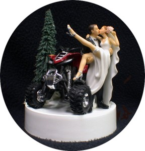4 Wheeler Wedding Cake Toppers
