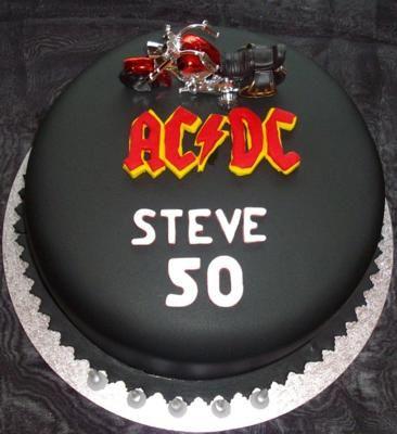 AC DC Birthday Cake
