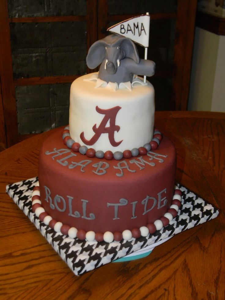 Alabama Roll Tide Happy Birthday Cake