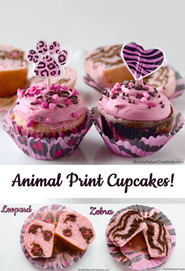 Animal Print Cake and Cupcakes