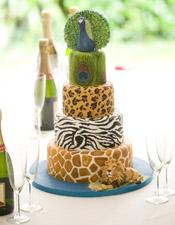 Animal Themed Wedding Cake