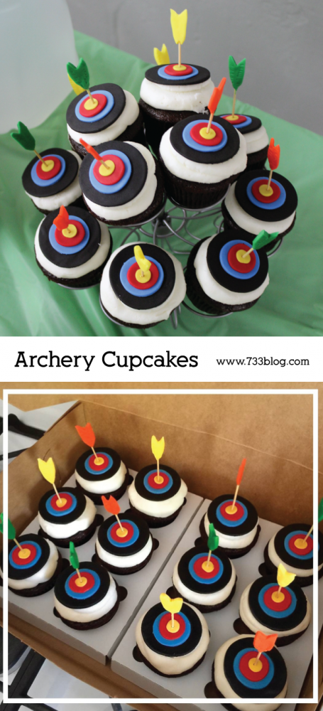 10 Photos of Bow And Arrow Cupcakes