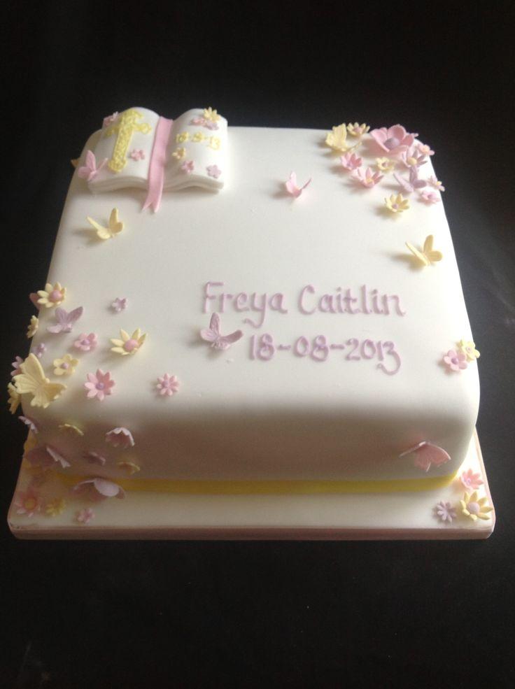 Baby Girl Christening Cake Ideas