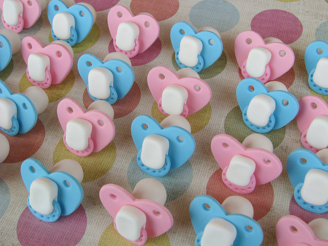 Baby Pacifiers Cupcake Toppers