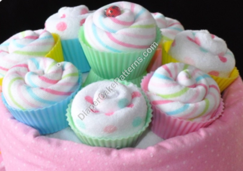 Baby Shower Diaper Cupcake Instructions