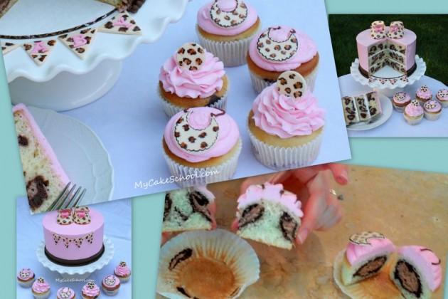 Baby Shower Leopard Print Cake Tutorial