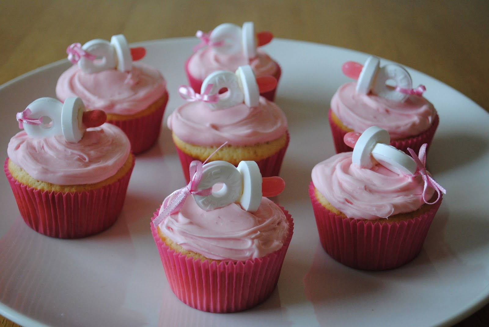 Baby Shower Pacifier Cupcakes