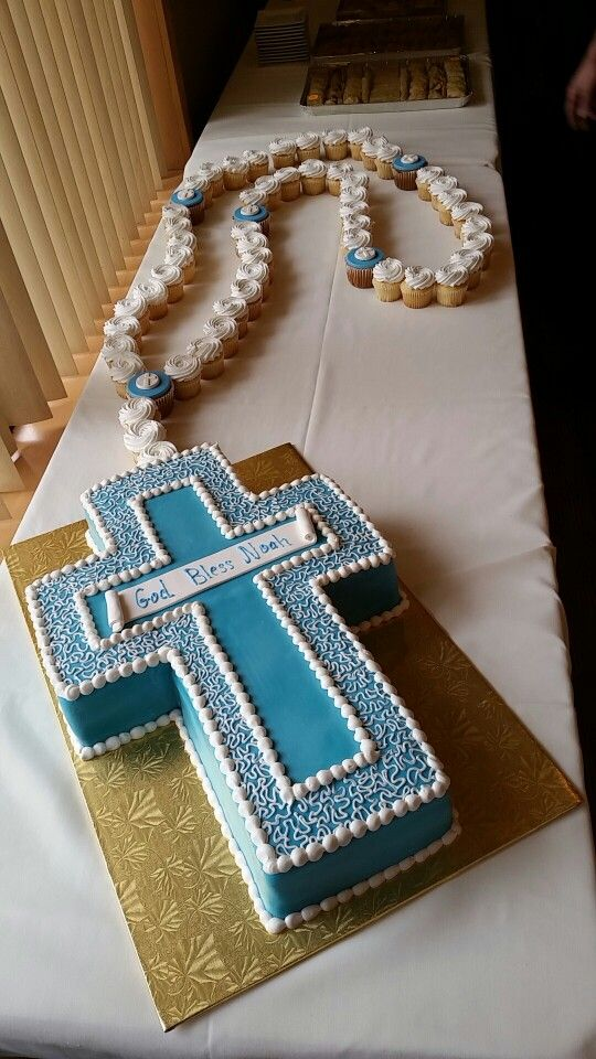 Baptism Cake with Rosary
