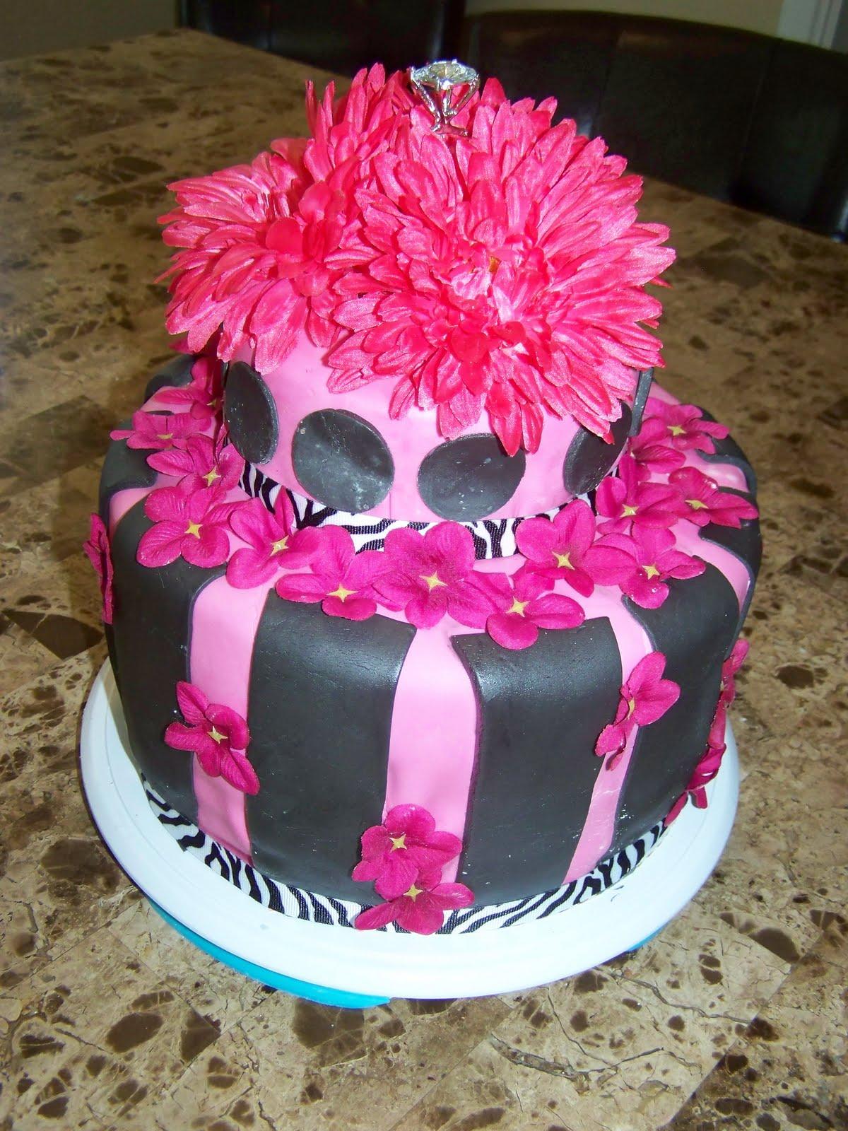 Bling Bridal Shower Cake