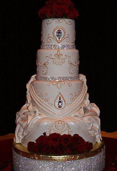 Bling Wedding Cake with Fondant