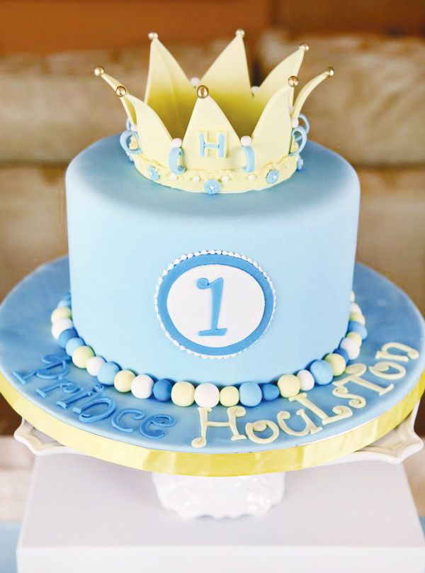 Boy Prince Theme Birthday Cake Ideas