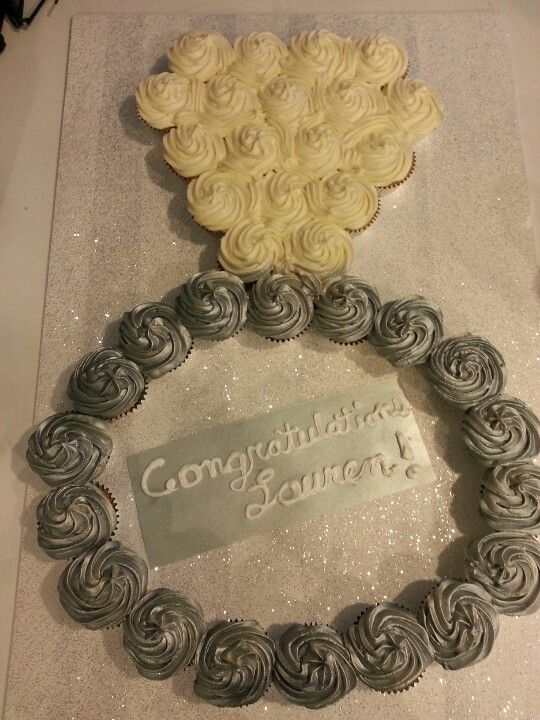 Bridal Shower Ring Cupcake Cake