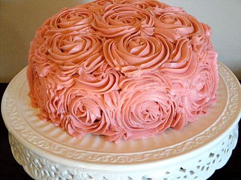Buttercream Rose Cake with Recipe