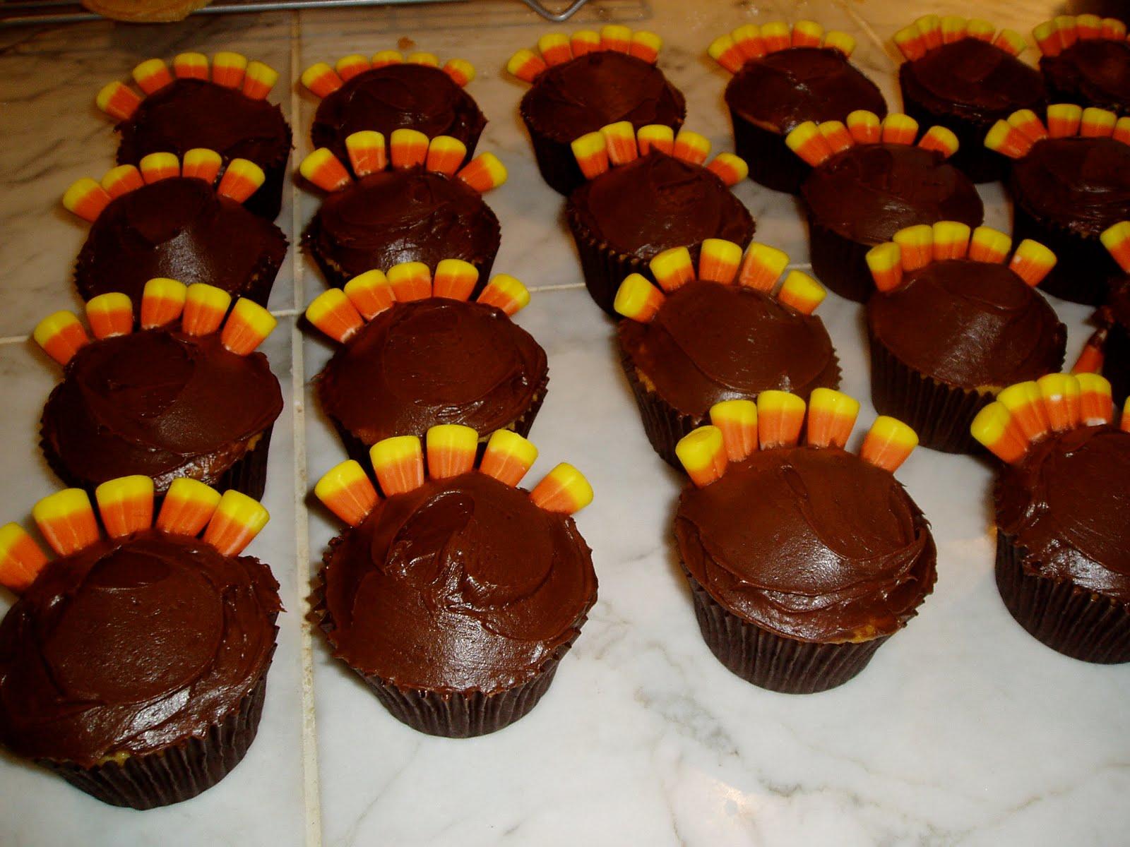 Candy Corn Turkey Cupcakes