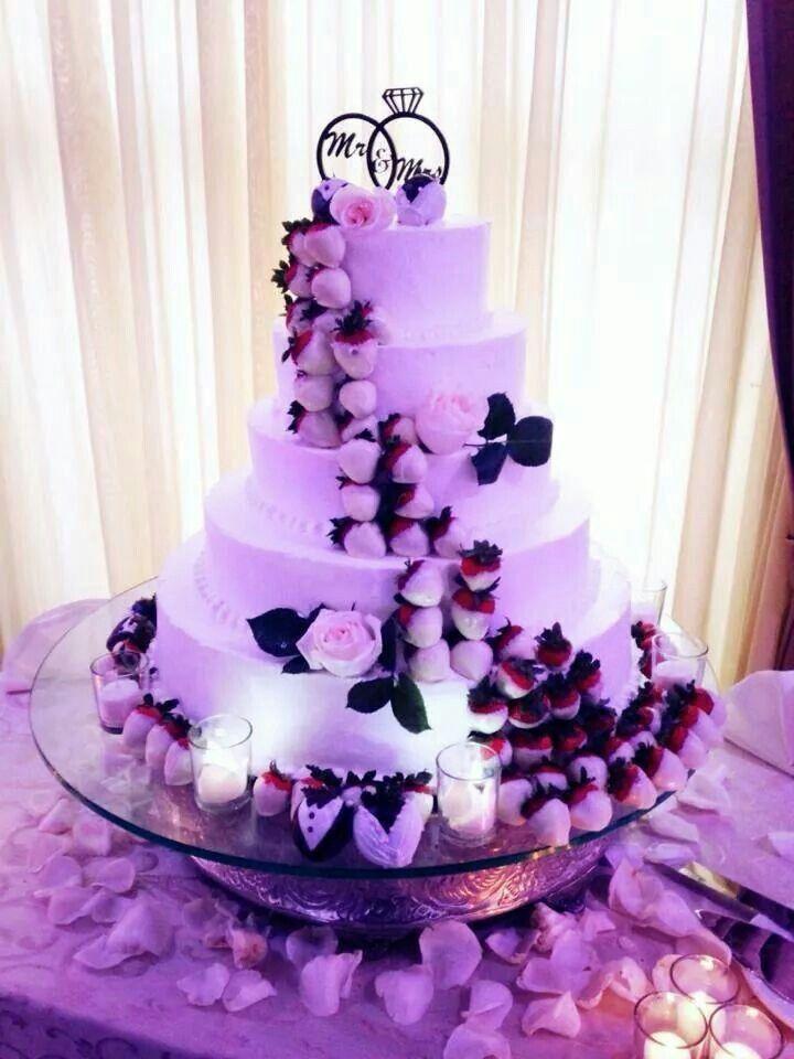 Chocolate Covered Strawberries Wedding Cake