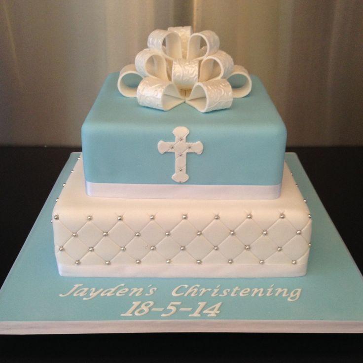 Christening Cake Square Ideas