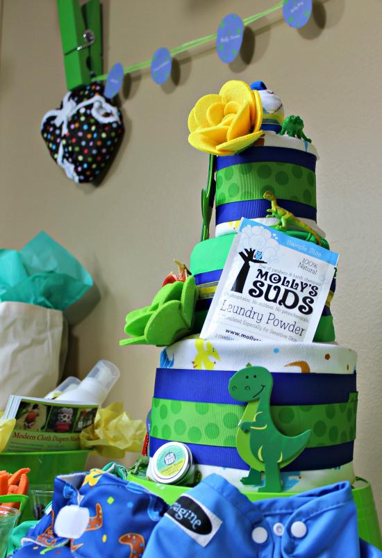 Cloth Diaper Baby Shower Cake