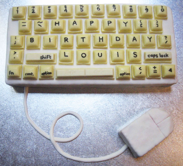Computer Keyboard Birthday Cake