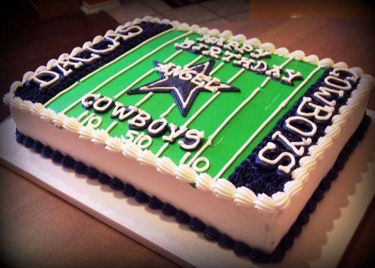 6 Photos of Dallas Cowboys Quater Sheet Cakes
