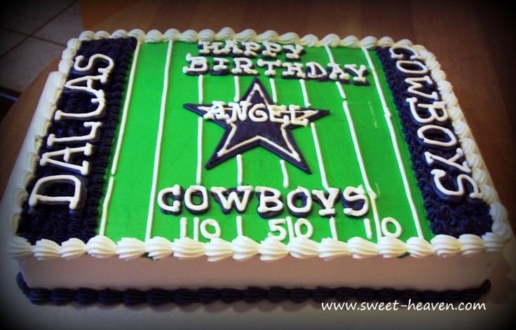 Dallas Cowboys Sheet Cake