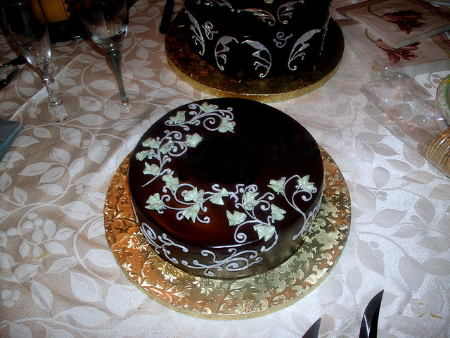 Decorating with Chocolate Cake